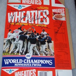 1987 Minnesota Twins World Champions 1987 w/Autographs