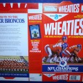 1989  Denver Broncos 1988 NFL Champions (Phantom) WHEATIES Box