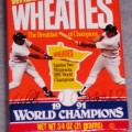 1991 Wheaties Salutes Two Minnesota 1991 World Champions- Puckett/ Hrbek (mini)(RARE)
