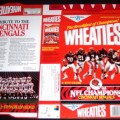 1990 Cincinnati Bengals 1989 NFL Champions (Phantom) WHEATIES Box