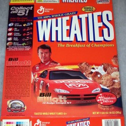 2001 Bill Elliott WHEATIES box
