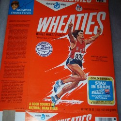1978 Bruce Jenner (hands up running) (Gold Series- Stay in Shape Indoor Fitness Program on front)