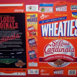 1996 St. Louis Cardinals National League Champions (Phantom) WHEATIES Box