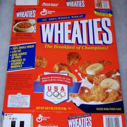 1996 Generic box (banner Pround Sponsor of the 1996 U.S. Olympic Team)