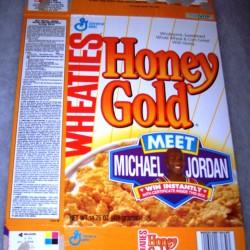 1993 Honey Gold Wheaties Meet Michael Jordan (Door sized poster offer on back)
