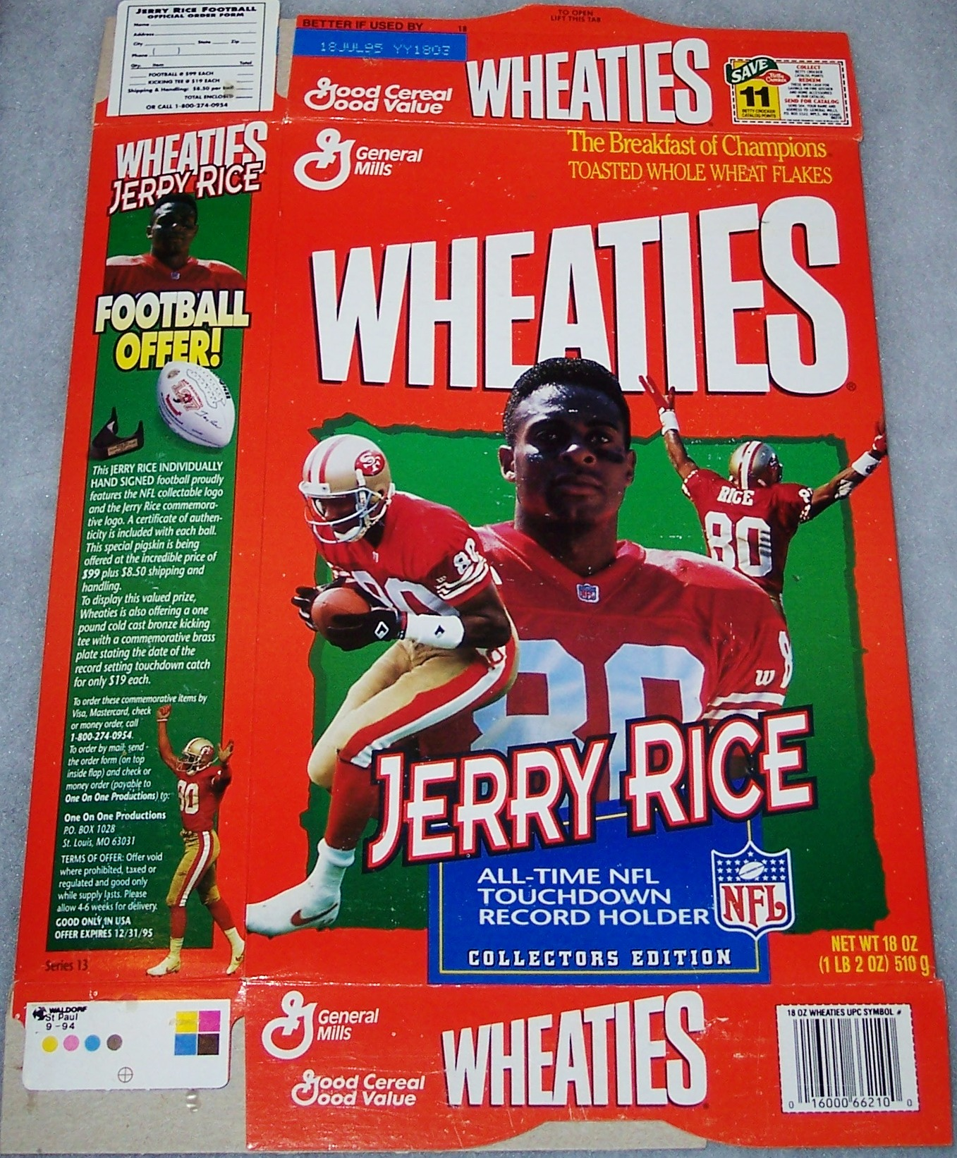 b2a45aa1f 1995 Jerry Rice- All Time NFL Touchdown Record Holder