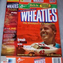 2001 Lee Petty Legends of Racing Series WHEATIES box