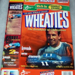 2000 Ned Jarret Legends of Racing Series WHEATIES box