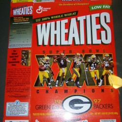 1998 Green Bay Packers SB XXXII Champions (Phantom) (Very Rare) WHEATIES Box