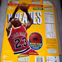 1997 Michael Jordan Basketball Offer (RARE YELLOW TEST BOX) WHEATIES Box