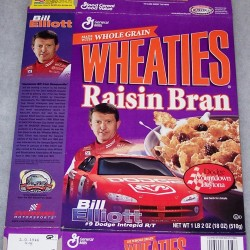 2001 Bill Elliott (WRB) WHEATIES box