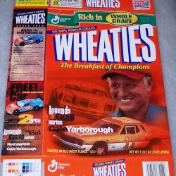 2001 Legends of Racing Cale Yarborough WHEATIES box