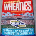"1991 SEC Southeastern Conference (Front Panel says ""Corporate Sponsor For The Southeastern Conference"") (Back panel says ""1991 SEC Football Fan's Guide Free On This Box)"