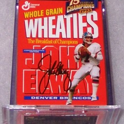 1999 John Elway (gold signature mini)