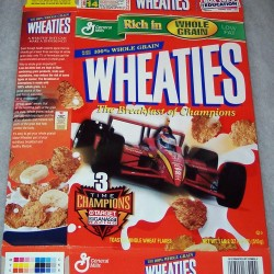 1999 3 Time Champions Ganassi Racing Team WHEATIES box