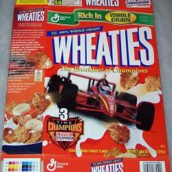 1999 3 Time Champions Ganassi Racing Team WHEATIES box