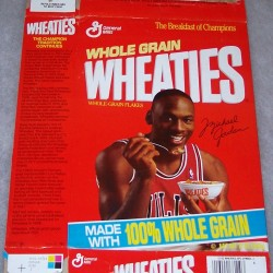 1990 Michael Jordan (eating cereal from bowl)