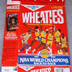 1988 Los Angles Lakers 1987-1988 NBA World Champions Back-To-Back