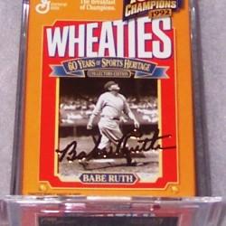 1999 Babe Ruth (gold signature mini) WHEATIES Box