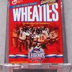 1999 1980 Team USA Hockey (gold signature mini)
