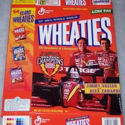 1998 Jimmy Vasser/Alex Zanardi Back2Back Champions WHEATIES box