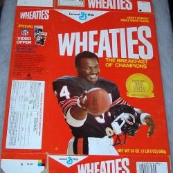 1987 Walter Payton (NFL video offer on side panel)