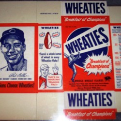 1951 Bob Feller Cleveland Indians WHEATIES Box
