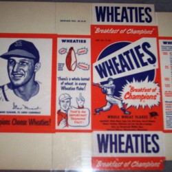1951 Stan Musial St. Louis Cardinals WHEATIES Box