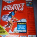 1976 Tennis Player (special offer Wheaties golf balls and Wheaties sweatbands on front)