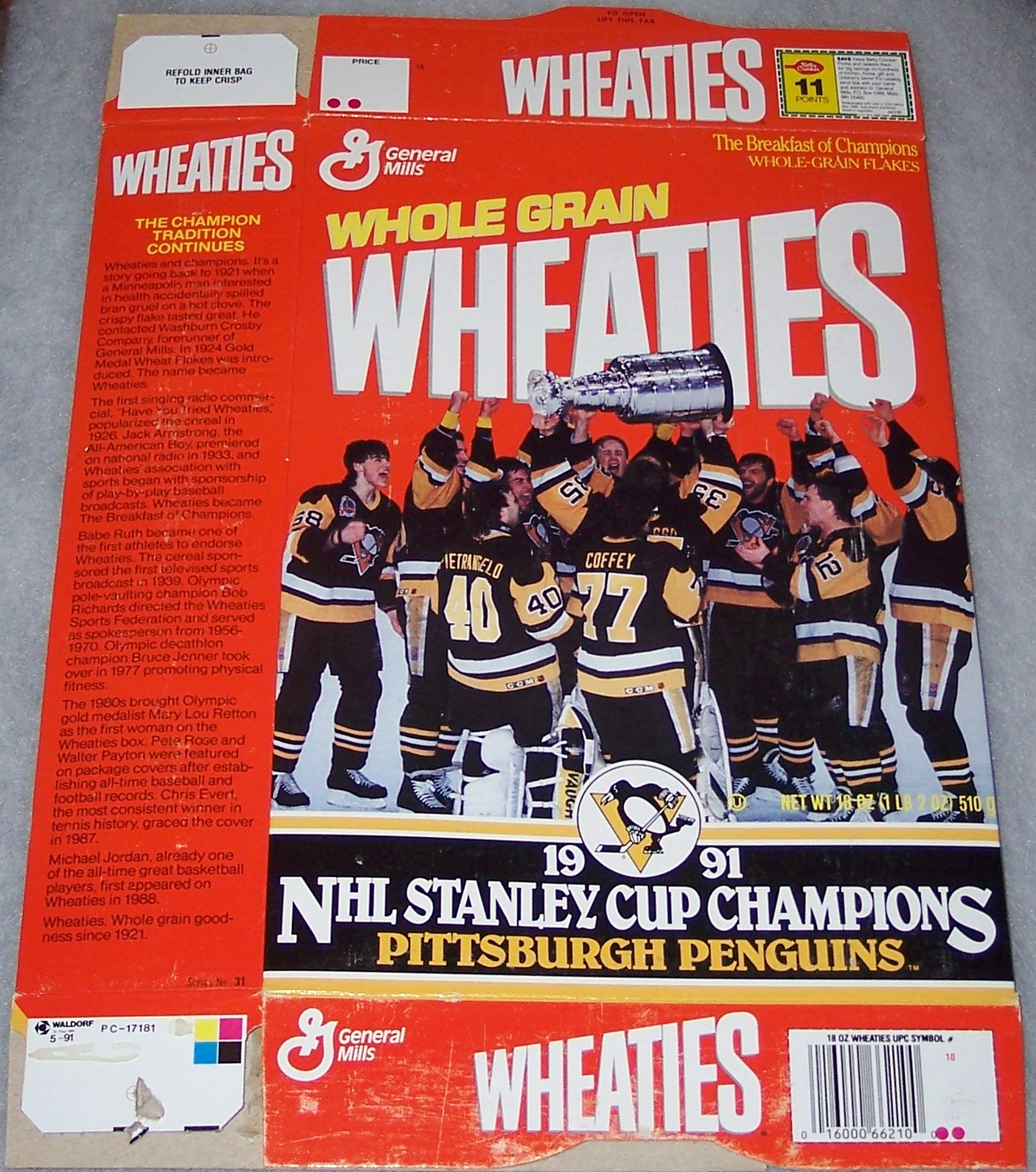 1991 Pittsburgh Penguins Stanley Cup Champions