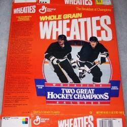 1992 Jaromir Jagr/Mario Lemieux Wheaties Salutes Two Great Hockey Champions