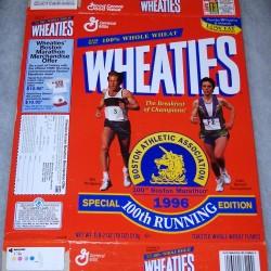 1996 100th Boston Marathon-Bill Rodgers, Joan Benoit Samuelson