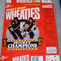 1992 Jaromir Jagr/Mario Lemieux '91-'92 Back to Back Hockey Champions Pittsburgh WITH LOGOS (RARE)