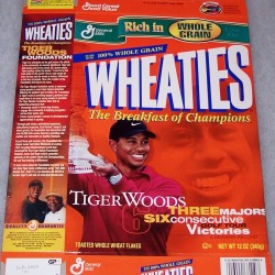 2000 Tiger Woods 3 Majors/6 Consecutive Golf Tour Victories