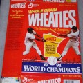 1991 Wheaties Salutes Two Minnesota 1991 World Champions-Puckett/ Hrbeck WHEATIES Box