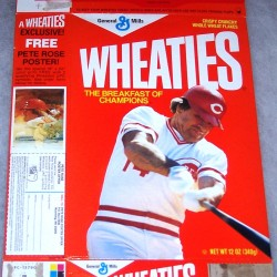1985 Pete Rose WHEATIES Box