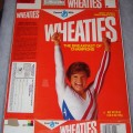 1985 Mary Lou Retton (hands in air) (free poster offer on back) WHEATIES Box