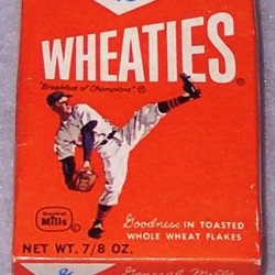 1964 Baseball Player (mini) WHEATIES Box