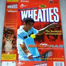 1995 Pete Sampras Record Tennis Grand-Slam Victories WHEATIES Box