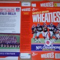 1992 Buffalo Bills 1991 NFL Champions (Phantom) Wheaties box