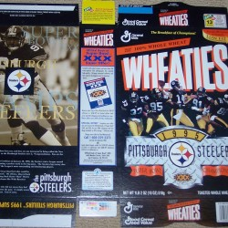 1996 Pittsburgh Steelers SB XXX Champions (Phantom) Wheaties box