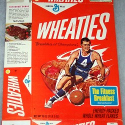 1972 Basketball Player (The Fitness Breakfast on back panel) Wheaties box
