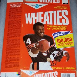 1987 Walter Payton (Banner on front for 100,000 Instant Winners)