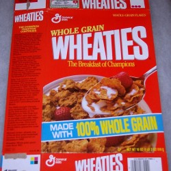 1989 Generic Box (Banner made with 100% Whole Grain on front)