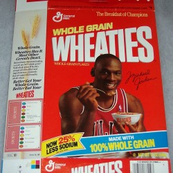 1989 Michael Jordan (Banner-Now 25% Less Sodium) (Trivial Pursuit Offer On Back)