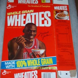1989 Michael Jordan (NBA Superstars Video Offer) WHEATIES Box
