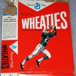 1964 Football Player Wheaties box