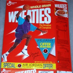 1989 Michael Jordan (Air Jordan Flight Club Offer On Back Panel) WHEATIES Box